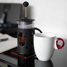 Fresh coffee in your room